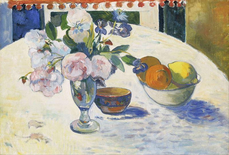 Masada Bir Kase Meyve ve Çiçekler, 1894 resmi
