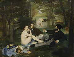 Kırda Öğle Yemeği, 1863, Tuval üzerine yağlıboya, 208 x 264.5 cm,  Musée d'Orsay, Paris, Fransa.