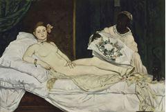 Olympia, 1863, Tuval üzerine yağlıboya, 130 x 190 cm, Musée d'Orsay, Paris, Fransa.