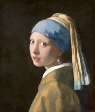 Show Girl with a Pearl Earring, c. 1665 details