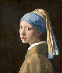 İnci Küpeli Kız, 1665 dolayları, Tuval üzerine yağlıboya, 44.5 x 39 cm, Mauritshuis, The Hague, Hollanda.