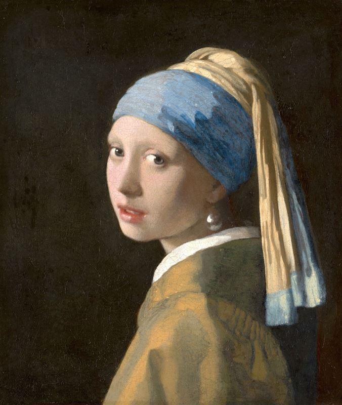 İnci Küpeli Kız, 1665 dolayları resmi