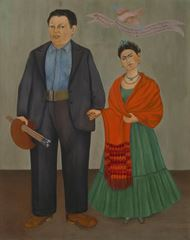 Frida ve Diego Rivera, 1931, Tuval üzerine yağlıboya, 100.01 x 78.74 cm, San Francisco Museum of Modern Art, San Francisco, ABD.