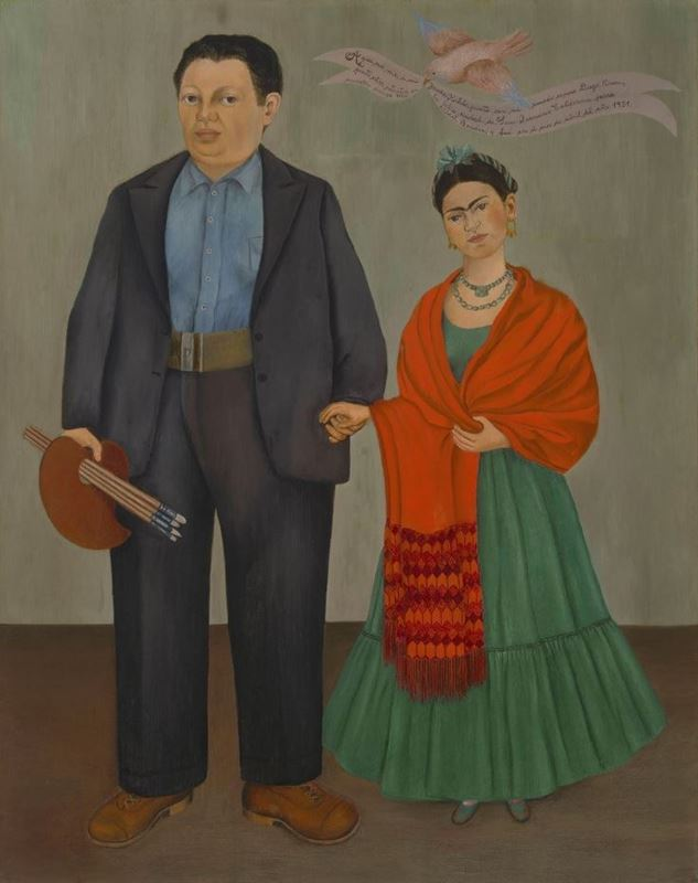 Frida ve Diego Rivera, 1931 resmi