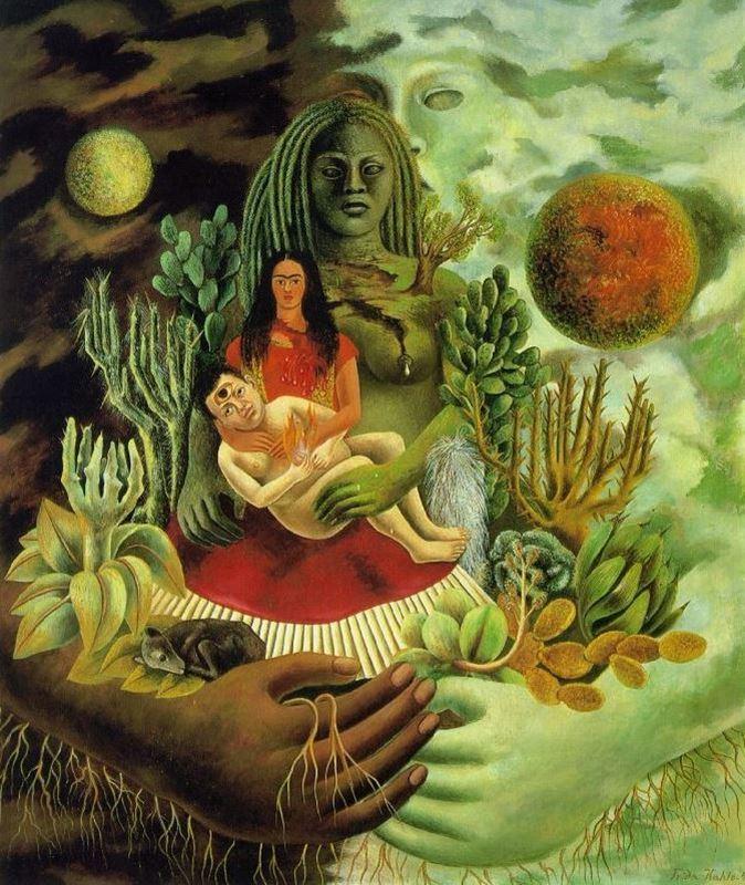 Evrenin, Yeryüzünün (Meksika'nın), Diego'nun, Benim ve Senor Xolotl'un Sevgi Kucaklayışı, 1949 resmi