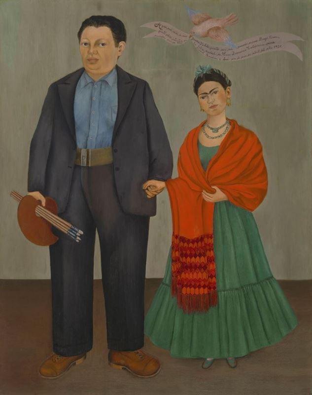 Fridave Diego Rivera, 1931, Tuval üzerine yağlıboya, 100 x 78.7 cm, Museum of Modern Art, San Francisco