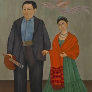 Picture of Frida ve Diego Rivera - Frida Kahlo