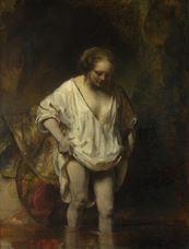 Derede Yıkanan Kadın (Hendrickje Stoffels?), 1654
