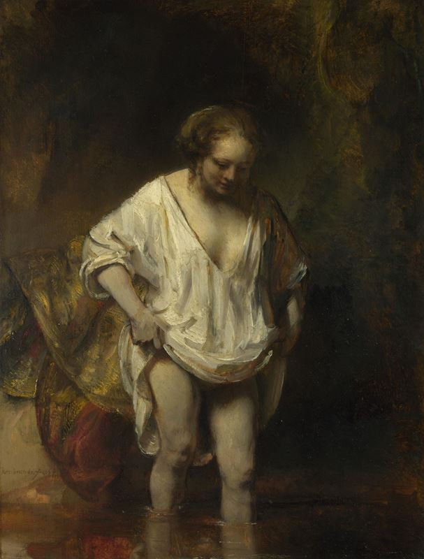 Derede Yıkanan Kadın (Hendrickje Stoffels?), 1654 resmi