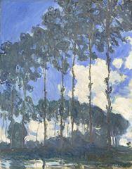 Epte Nehri Kıyısında Kavaklar, 1891, Tuval üzerine yağlıboya, 92.4 x 73.7 cm, Tate Modern, London, İngiltere.