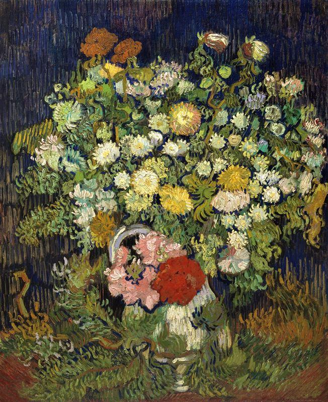 Vazoda Çiçek Buketi, 1890 resmi