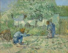 Show First Steps (after Millet), 1890 details