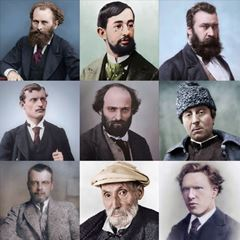 Colorized Photos of Painters picture