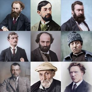 Picture of Colorized Photos of Painters
