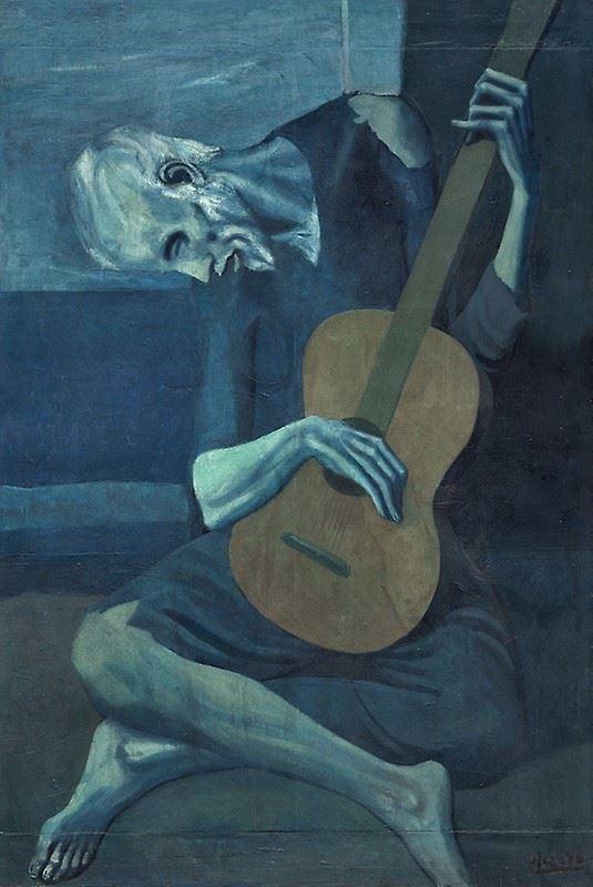 Yaşlı Gitarist, 1903-1904 resmi