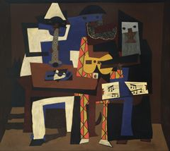 Üç Müzisyen, 1921, Tuval üzerine yağlıboya, 200.7 x 222.9 cm, Museum of Modern Art, New York, ABD.