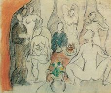 Show Study for The Girls of Avignon, 1907 details
