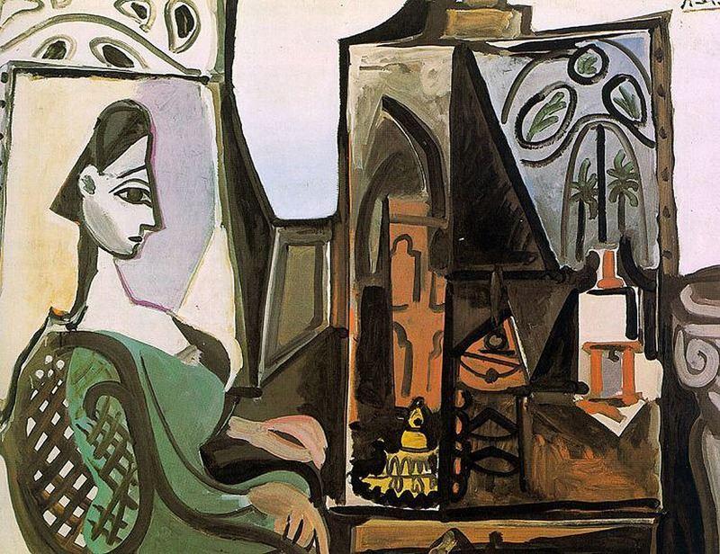 Jacqueline Atölyede, 1956 resmi