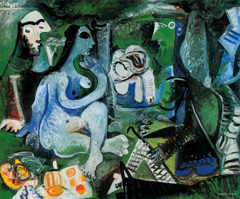 Kırda Öğle Yemeği (Manet'den esinle), 1961 resmi