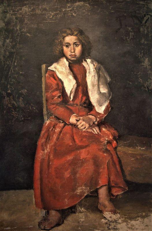 Çıplak Ayaklı Kız, 1895 resmi