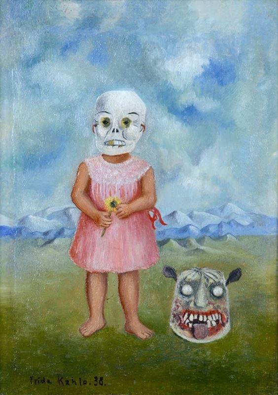 Ölüm Masklı Küçük Kız, 1938 resmi