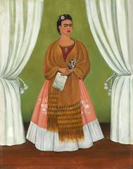 Lev Troçki'ye İthaf Edilmiş Otoportre, 1937, Masonit üzerine yağlıboya, 30 x 24 cm, National Museum of Women in the Arts, Washington, ABD.