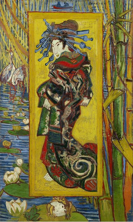 Oiran (KeisaiEisen'den esinle), 1887, Tuval üzerine yağlıboya, 100.7 x 60.7 cm, Van Gogh Museum, Amsterdam, Hollanda.