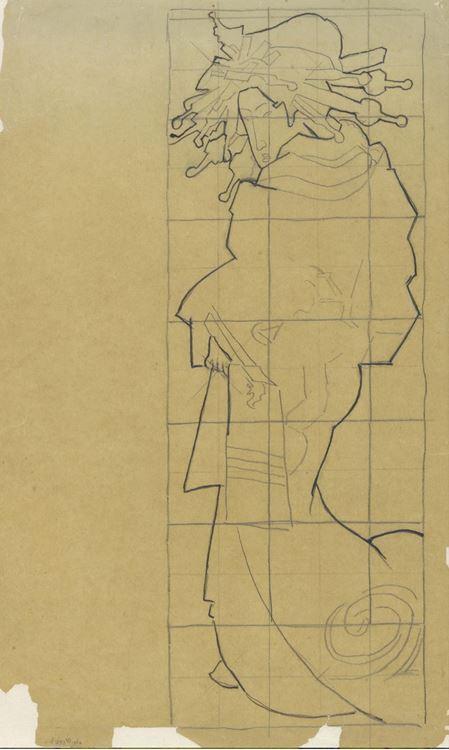 Oiran (Keisai Eisen'den esinle), 1887 picture