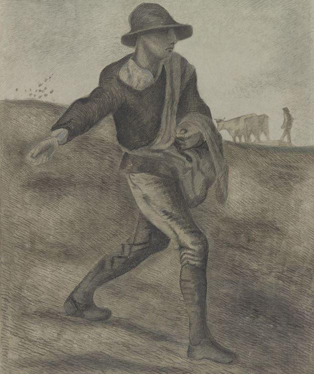 Tohum Serpen Adam (Millet'den esinle), 1890 picture