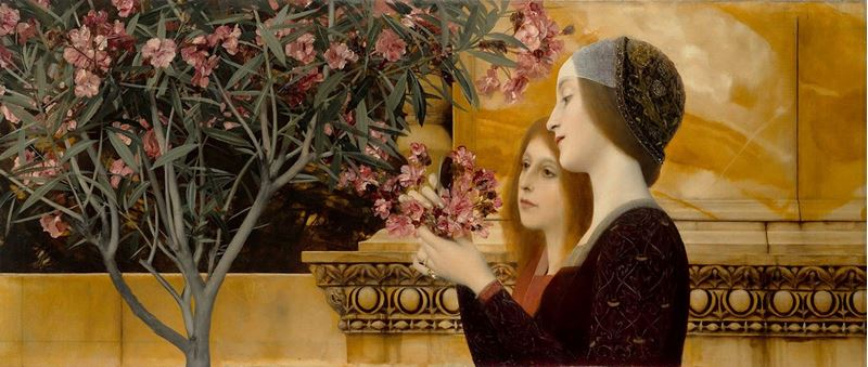 Picture for Two Girls with Oleander, 1890-1892
