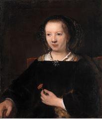 Karanfilli Genç Kadın, 1656