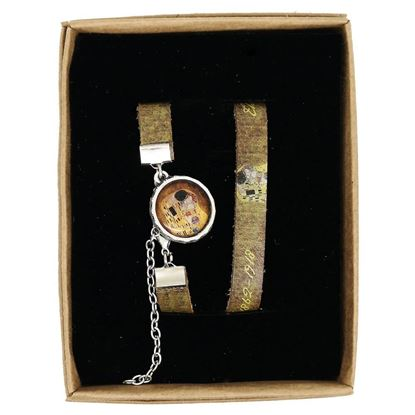 Picture of Klimt - The Kiss - Leather Wristband