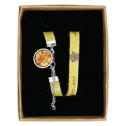 Van Gogh - Ayçiçekleri - Deri Bileklik resmi
