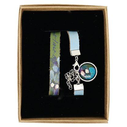 Monet - Nilüferler - Deri Bileklik resmi