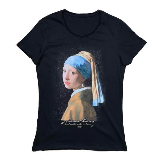 Picture of Vermeer  - Girl with a Pearl Earring - T-Shirt