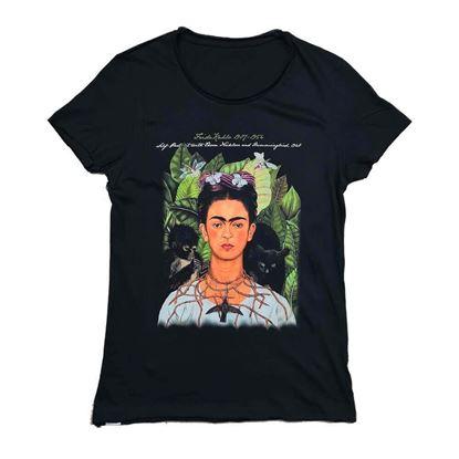 Frida Dikenli Kolye ve Sinekkuşu ile Otoportre- T-shirt