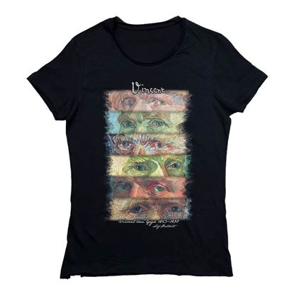 Picture of Van Gogh - Eyes (Self-Portraits)- T-Shirt
