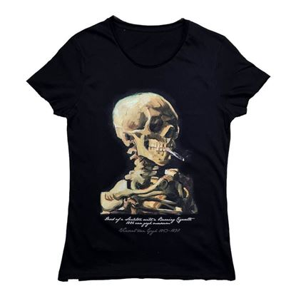 Picture of Van Gogh - Head of a Skeleton with a Burning Cigarette - T-Shirt