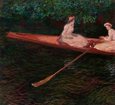 Show The Canoe on Epte, c.1890 details