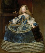 Show Infanta Margarita Teresa in a Blue Dress, 1659 details