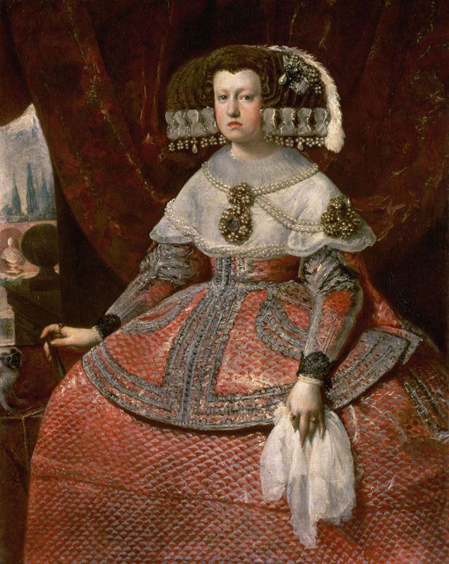 İspanya Kraliçesi Maria Anna, 1651-1661 resmi