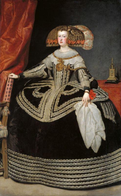 İspanya Kraliçesi Maria Anna, 1652-1653 resmi
