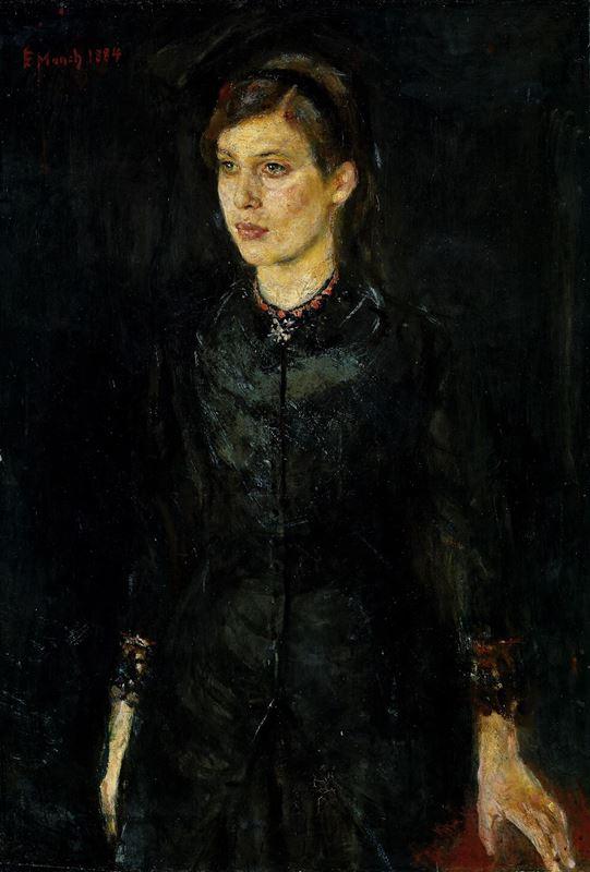 Sanatçının Kız Kardeşi Inger, 1884 resmi