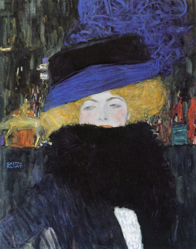 Picture for Lady with Hat and Feather Boa, 1909