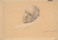 Show Head of a Propped Lying Man, (Study for Theater in Taormina), 1886-1887 details