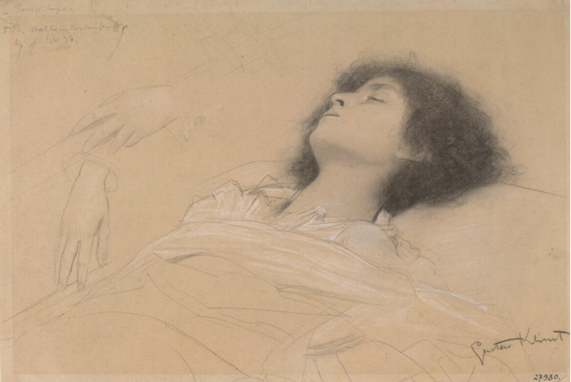 Picture for Head Study of a Reclining Girl, Two Hand Studies, 1886-1887