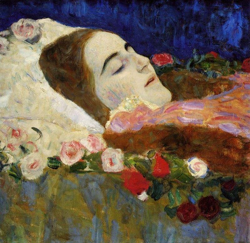 Ria Munk Ölüm Döşeğinde, 1912 resmi