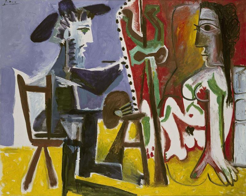 Ressam ve Model, 1963 resmi