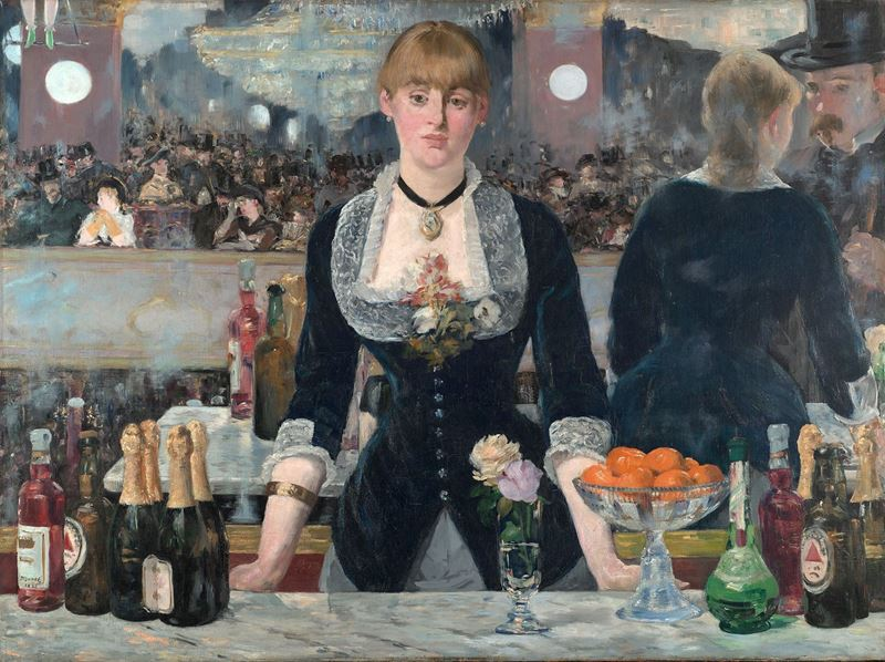 Folies-Bergère'de Bir Bar, 1882, Tuval üzerine yağlıboya, 96 x 130 cm, Courtauld Gallery, Londra, İngiltere.