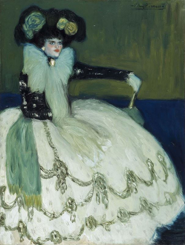 Mavili Kadın, 1901 resmi